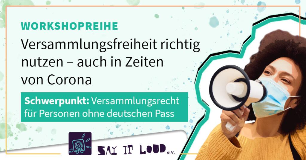 Veranstaltung: Versammlungsrecht für Personen ohne deutschen Pass